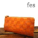 【fes】カウレザーメッシュ長財布