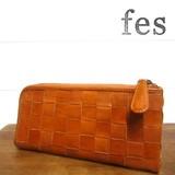 【4月上旬入荷】【fes/フェス】カウレザーメッシュ長財布<L字型>