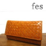 【残りわずか】【fes】カウレザーメッシュ長財布