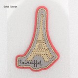 PAPIER MARCHE EMBROIDERY SEAL Eiffel Tower