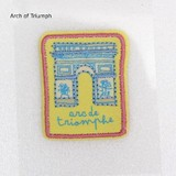 PAPIER MARCHE EMBROIDERY SEAL Arch of Triumph
