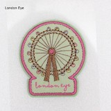 PAPIER MARCHE EMBROIDERY SEAL London Eye