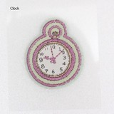 PAPIER MARCHE EMBROIDERY SEAL Clock