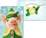 AVANTI PRESS クリスマススタンドアウトカード<ブタ>