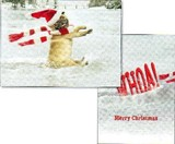AVANTI PRESS クリスマススタンドアウトカード<犬×マフラー×ぼうし>