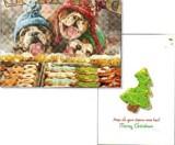 AVANTI PRESS クリスマススタンドアウトカード<犬×ツリー×クッキー>