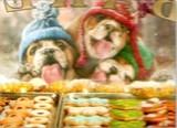 AVANTI PRESS クリスマスカード<犬×クッキー×ぼうし>
