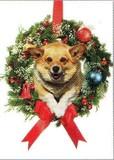 AVANTI PRESS クリスマスカード<犬×リース>