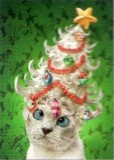 AVANTI PRESS クリスマスカード<猫×ツリー>