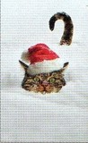 ART UNLIMTED クリスマスミニカード<猫×ぼうし×雪>