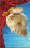 ART UNLIMTED クリスマスミニカード<猫×宙吊り>