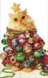 ART UNLIMTED クリスマスミニカード<猫×ボール>