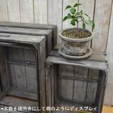 2サイズ2色展開 シンプルな3サイズセットになった木箱☆