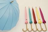●カラフル16本骨雨傘●カラー無地