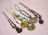 Glass Pendant Long Set of Assorted