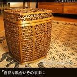【SALE】自然な風合いそのままに!【バンブー蓋付きダストBOX】アジアン雑貨