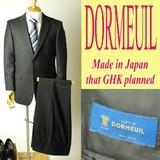 *合冬服*黒に近いミッドナイトブルーのスリーシーズン用ビジネス・ドーメルスーツ:RM150【日本製】