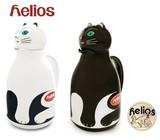 【helios】THERMO CAT サーモキャット 卓上ガラス製魔法瓶 1L インテリアにもなる大人な表情のネコ