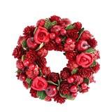 <<クリスマスリース>>★■X'mas/  Pine Rose & Green Leave Wreath SS