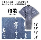 Soft Image Komon Yukata Dark Blue Souvenir For