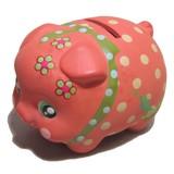 貯金が楽しくなってきそう♪■【置物/貯金箱/インバウンド】デコぶたオレンジ