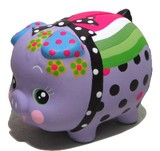 貯金が楽しくなってきそう♪■【置物/貯金箱/インバウンド】デコぶたラベンダー