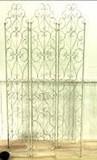 【-グリーン若草色-】ロートアイアン【-3連スクリーン間仕切りパ−テーション-】アイアンフレーム
