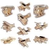 【動く木製3Dパズルキット】ソーラーエアクラフト