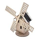 【木製3Dパズルキット】ソーラーウィンドミル ホーランド