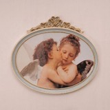 Italy Furniture Art Frame Oval Ribbon Angel Wall Hanging Product