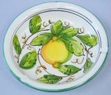 【イタリア製】陶器ハンドペイント灰皿(レモン・ブドウ・花)