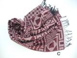 SALE【秋冬新作】パッチワーク風の幾何柄織ユニセックスで温もり厚手ウールタッチ大判(幅70)ストール♪997