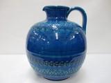 【イタリア製】ビトッシ・リミニブルー陶器花瓶