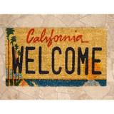【ギフトショー秋2016】【玄関マット】コイヤーマット[California Welcome:レクト6233]