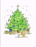 MADISON PARK GREETINGS クリスマスカード <プレゼント×ツリー>