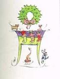 MADISON PARK GREETINGS クリスマスカード <リース×猫>