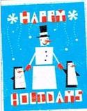 MADISON PARK GREETINGS クリスマスカード <ペンギン×スノーマン>