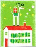 MADISON PARK GREETINGS クリスマスカード <トナカイ×ハウス>