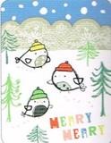 MADISON PARK GREETINGS クリスマスカード <小鳥×ツリー>