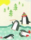MADISON PARK GREETINGS クリスマスカード <ペンギン×ツリー>