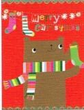 MADISON PARK GREETINGS クリスマスカード <クマ×靴下>