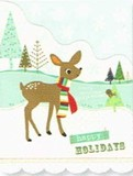 MADISON PARK GREETINGS クリスマスカード <トナカイ×マフラー>