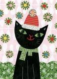 MADISON PARK GREETINGS クリスマスミニカード <猫×帽子>