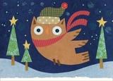 MADISON PARK GREETINGS クリスマスミニカード <フクロウ×帽子>