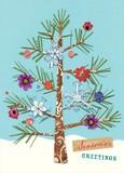 MADISON PARK GREETINGS クリスマスミニカード <ツリー×フラワー>