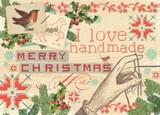 MADISON PARK GREETINGS クリスマスミニカード <鳥×ハンド>