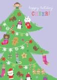 MADISON PARK GREETINGS クリスマスミニカード <サンタ×ツリー>