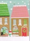 MADISON PARK GREETINGS クリスマスミニカード <ハウス×スノーマン>