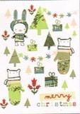 MADISON PARK GREETINGS クリスマスミニカード <アニマル×ツリー>