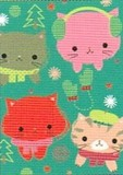 MADISON PARK GREETINGS クリスマスミニカード <猫>